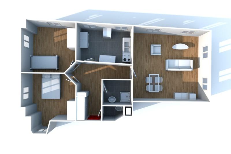 Appartement F3 à louer dans le centre-ville de Grand-Couronne - Image 10