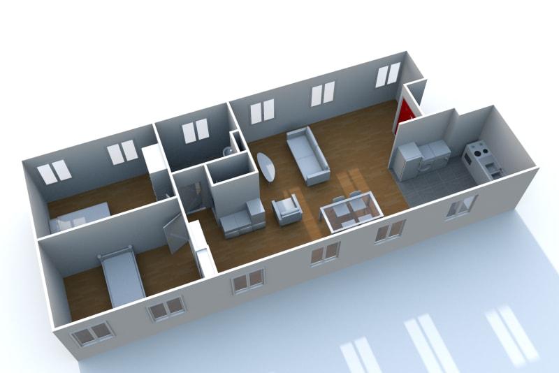 Appartement F3 très lumineux à louer proche de la seine à Elbeuf - Image 6