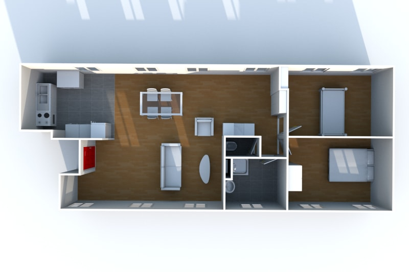 Appartement F3 très lumineux à louer proche de la seine à Elbeuf - Image 7
