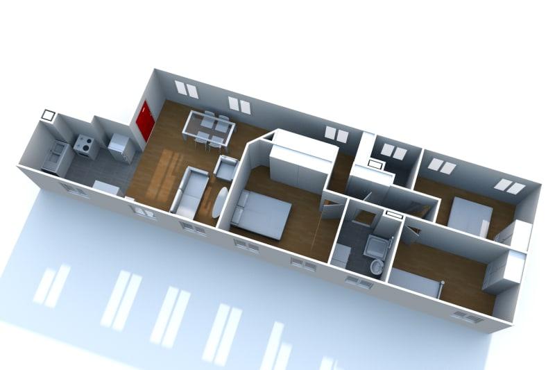 Appartement F4 très lumineux à louer proche de la seine à Elbeuf - Image 6