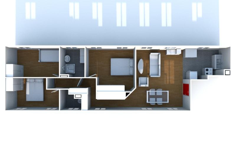 Appartement F4 très lumineux à louer proche de la seine à Elbeuf - Image 7
