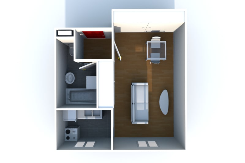 Appartement F1 à louer dans le quartier IUT d'Elbeuf - Image 4