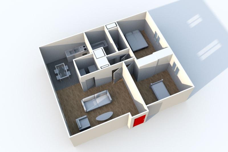 T3 dans le centre-ville du Tréport dans une résidence moderne - Image 4