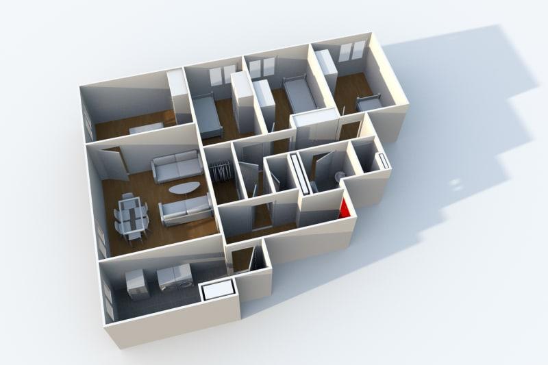 Appartement F5 en location à côté du stade Océane au Havre - Image 4