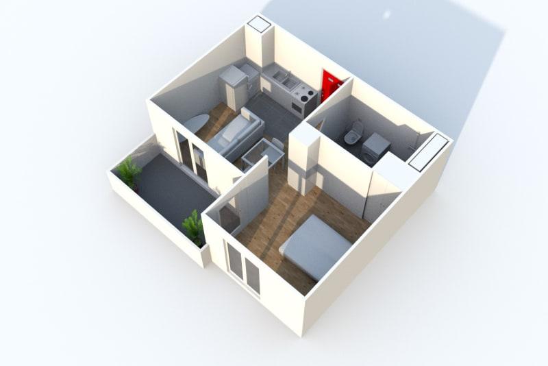 Studio dans une résidence calme et verdoyante à Croisy sur Andelle - Image 3