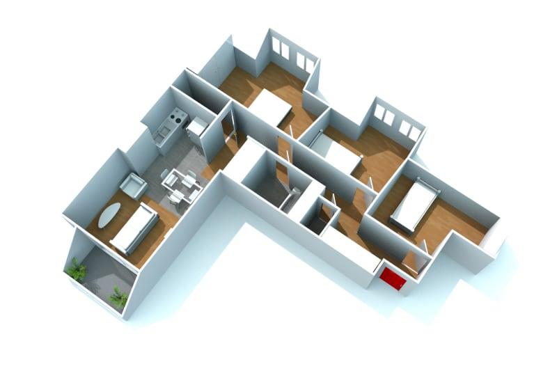 Appartement T4 à louer à Bolbec dans un quartier calme - Image 7