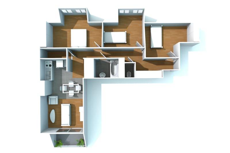 Appartement T4 à louer à Bolbec dans un quartier calme - Image 8