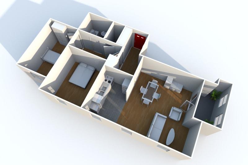 3 pièces avec vue dégagée à Rouen dans une résidence moderne - Image 8