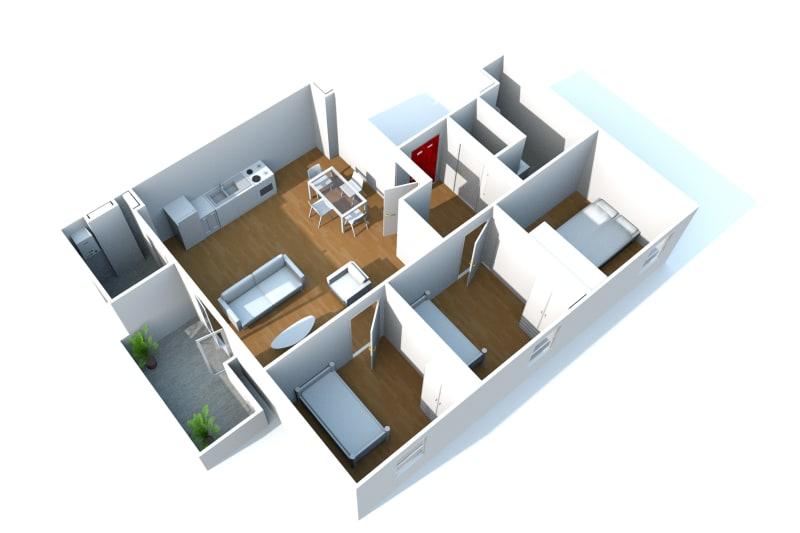 Appartement F4 récent à louer à Cany-Barville - Image 9