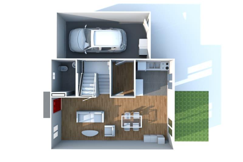 Pavillon T5 à louer à Duclair avec garage - Image 8
