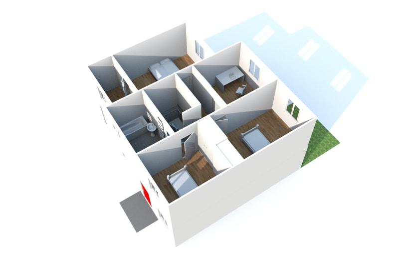 Pavillon T5 à louer à Duclair avec garage - Image 9