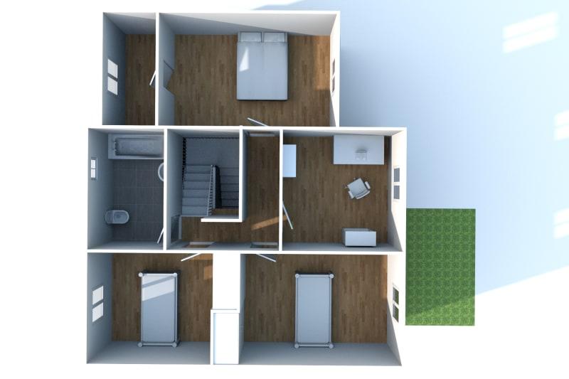 Pavillon T5 à louer à Duclair avec garage - Image 10