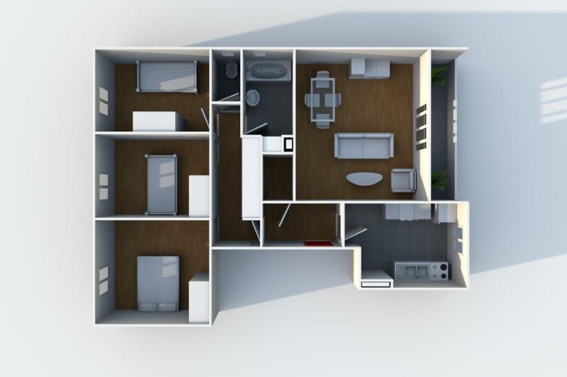 Location appartement F4 Le Havre proche des Docks Vauban - Image 4