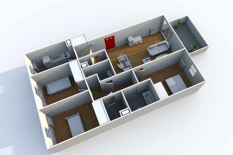 Appartement T4 à louer à Rouen Rive Droite - Image 9