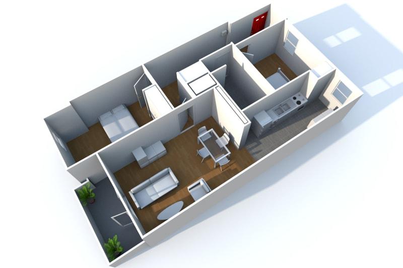 Appartement de 3 pièces à louer à Rouen Rive Droite - Image 7