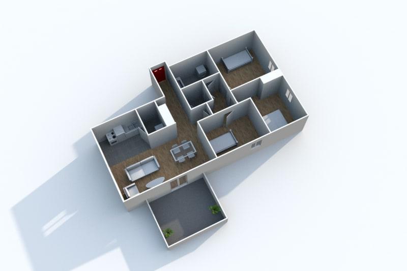 Appartement T4 à louer au Houlme - Image 4