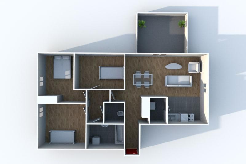 Appartement T4 à louer au Houlme - Image 5
