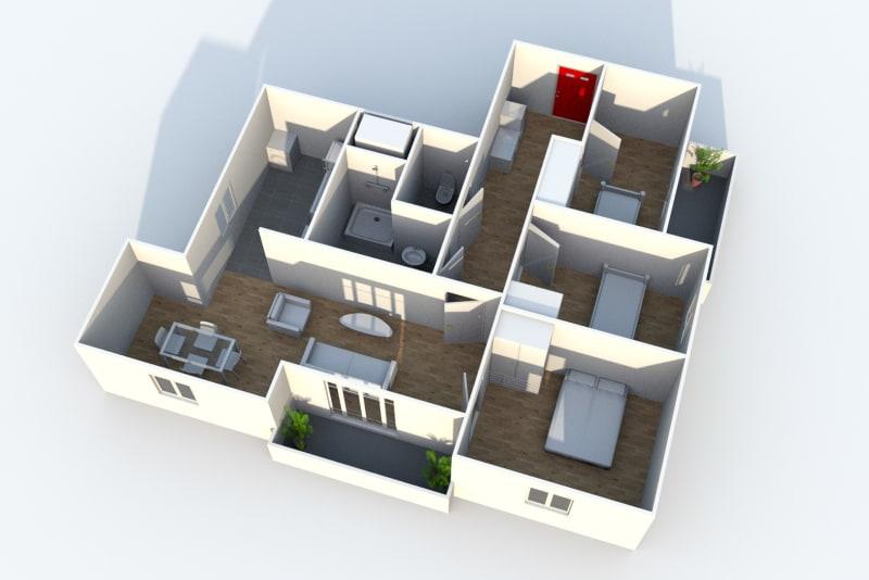 4 pièces au Havre dans résidence réhabilitée - Image 5