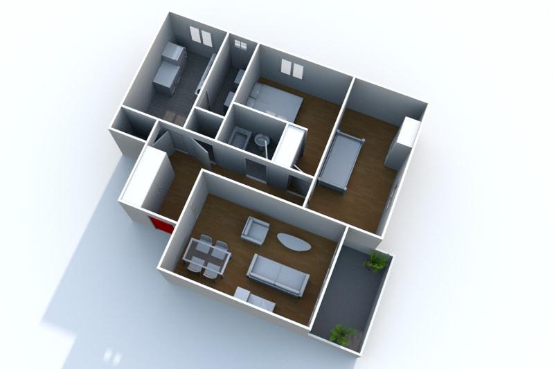 Appartement F3 en location à Auffay, à 2 min. du centre-ville - Image 4