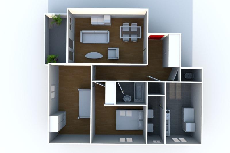 Appartement F3 en location à Auffay, à 2 min. du centre-ville - Image 5