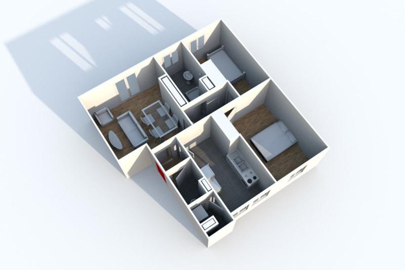T3, Centre-ville de Barentin, Grandes chambres avec parquet - Image 5