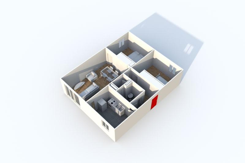 Appartement T3 à louer proche du centre-ville de Blangy-Sur-Bresle - Image 3