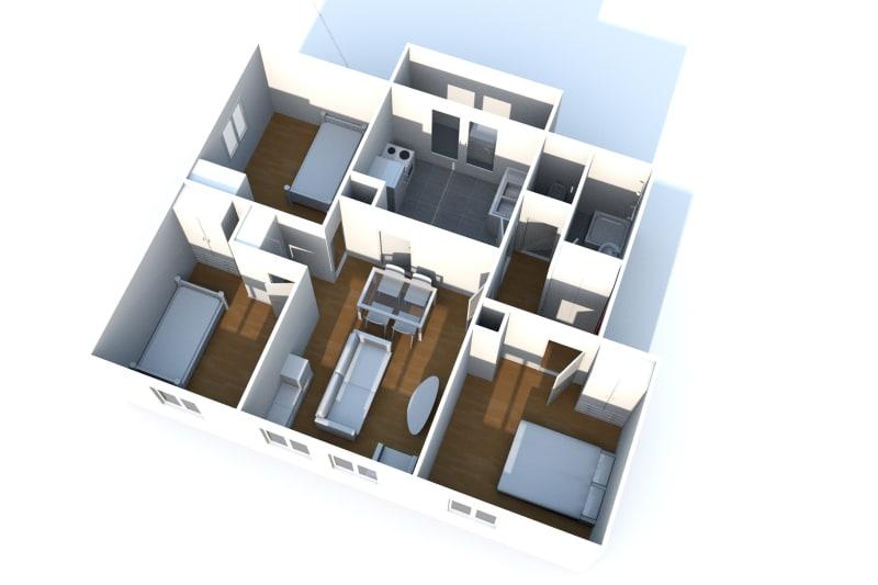 Appartement T4 à louer à Bolbec - Image 7