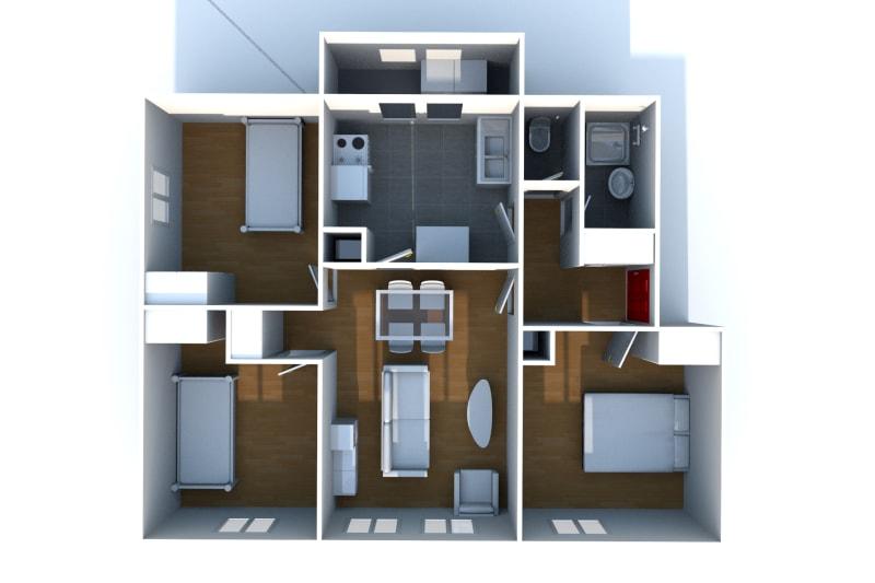 Appartement T4 à louer à Bolbec - Image 8