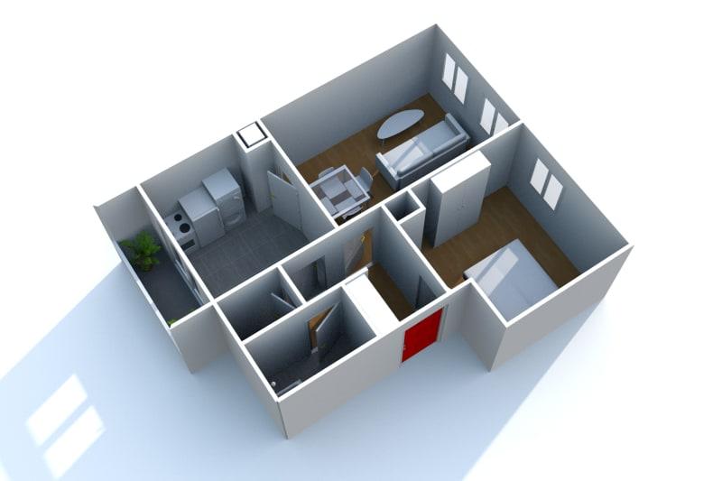 Appartement F2 à louer à Bolbec - Image 6