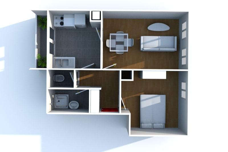 Appartement F2 à louer à Bolbec - Image 7
