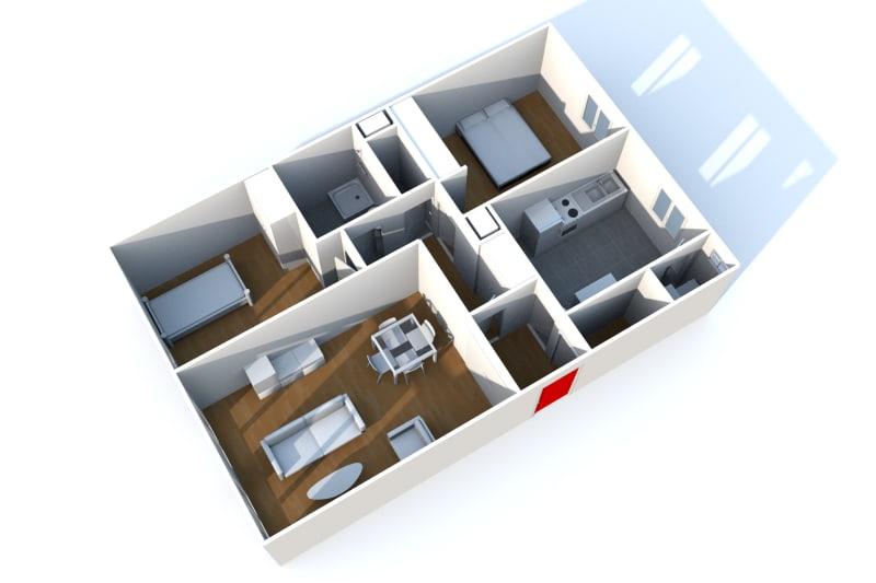 Appartement T3 à louer dans un quartier résidentiel à Bolbec - Image 8