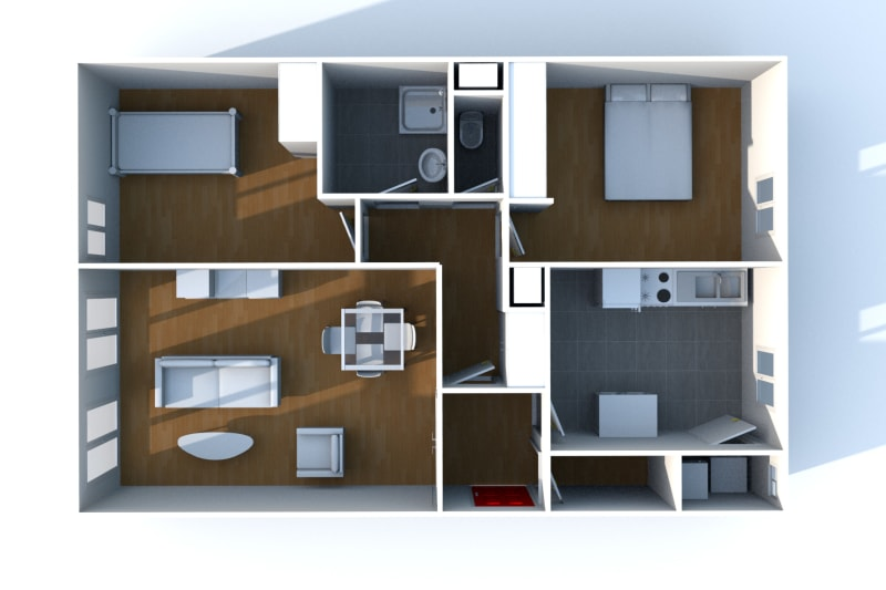 Appartement T3 à louer dans un quartier résidentiel à Bolbec - Image 9
