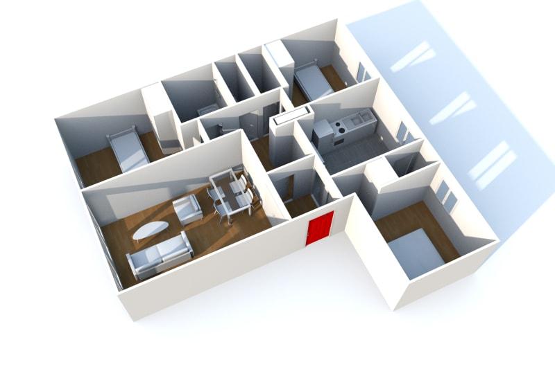 Appartement F4 en location dans un quartier résidentiel à Bolbec - Image 8