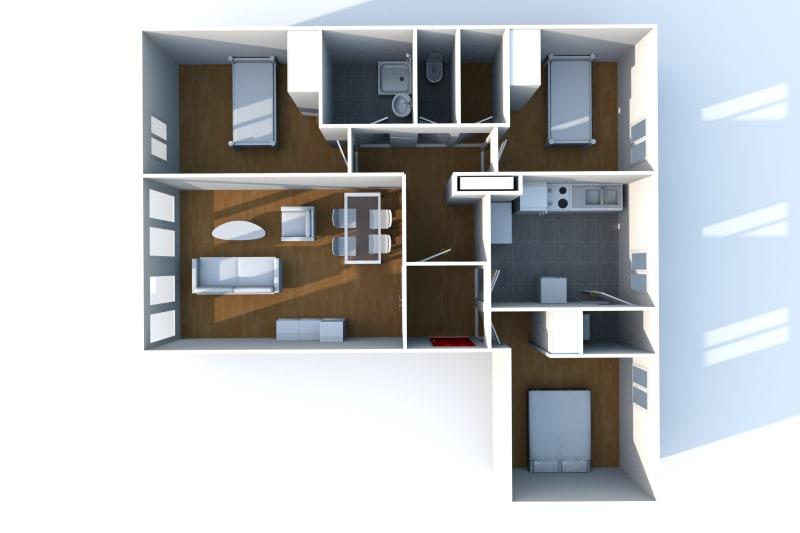 Appartement F4 en location dans un quartier résidentiel à Bolbec - Image 9