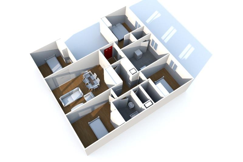 Appartement T5 à louer dans un quartier résidentiel à Bolbec - Image 9