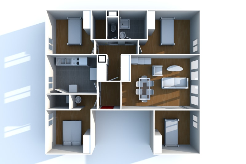 Appartement T5 à louer dans un quartier résidentiel à Bolbec - Image 10