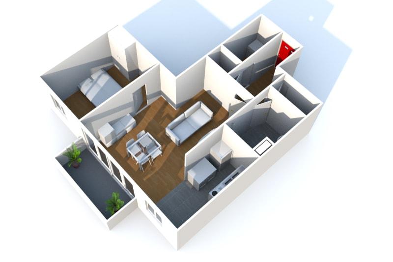 Appartement T2 à louer à Bolbec dans un quartier résidentiel - Image 3