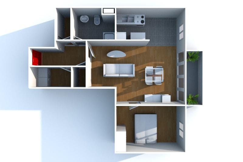 Appartement T2 à louer à Bolbec dans un quartier résidentiel - Image 4