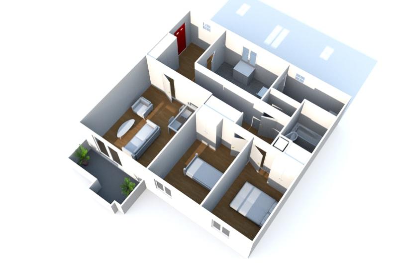 Appartement F3 en location dans un quartier calme à Bolbec - Image 7