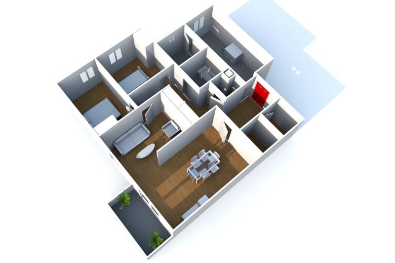 Appartement F4 à louer dans un cadre verdoyant à Bolbec - Image 3