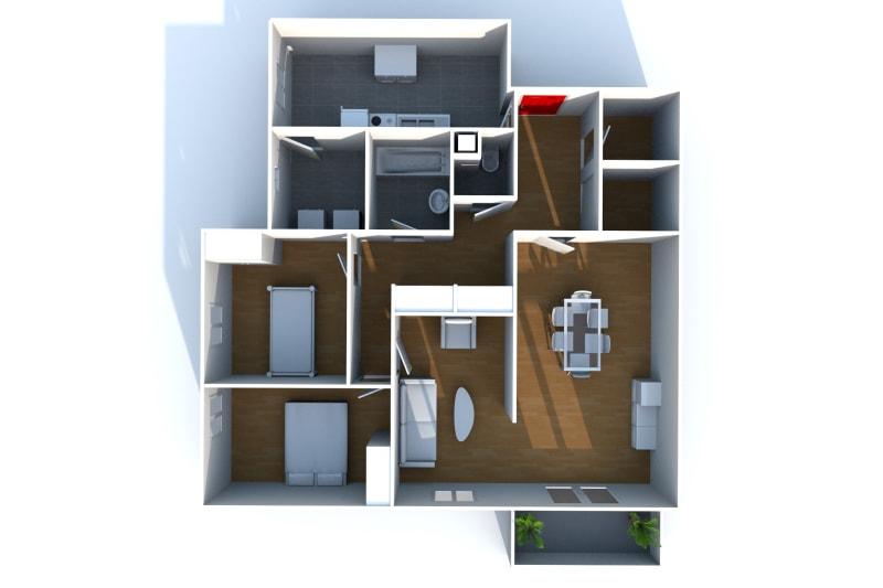 Appartement F4 à louer dans un cadre verdoyant à Bolbec - Image 4
