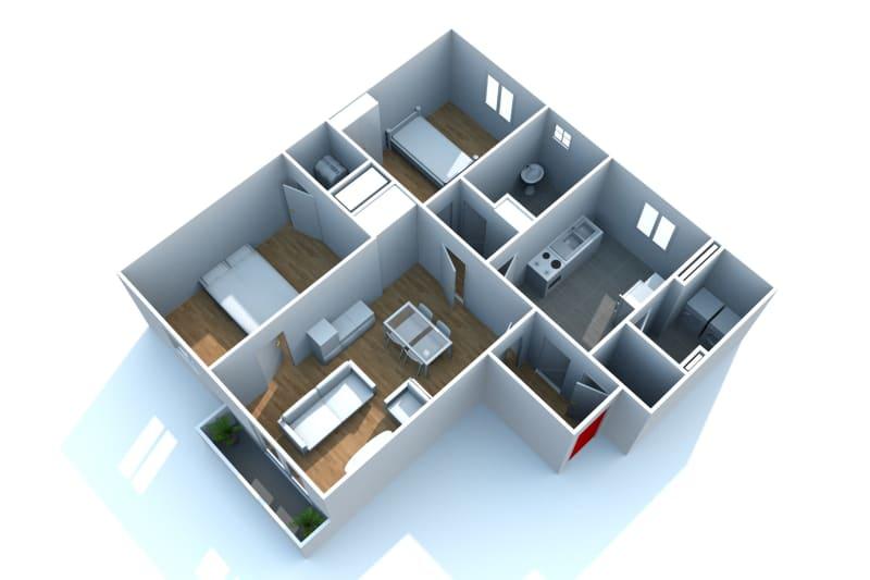 Appartement F3 à louer à Canteleu au pied du Téor - Image 5