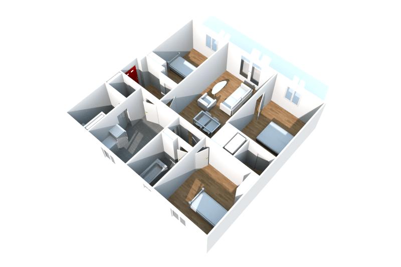 Appartement T4 à louer au pied des commerces - Image 5