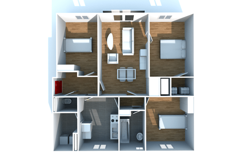 Appartement T4 à louer au pied des commerces - Image 6