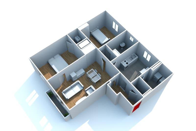 Appartement F3 en location, proche de la place du marché à Canteleu - Image 5