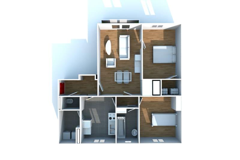 Appartement F3 en location, proche de la place du marché à Canteleu - Image 6