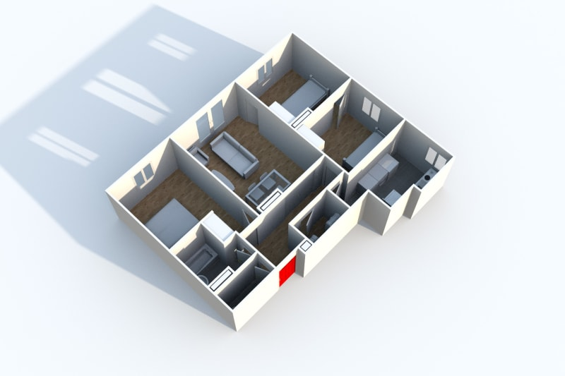 Appartement F4 à Canteleu avec vue sur Rouen - Image 5