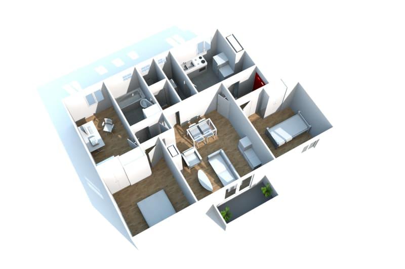 Appartement T4 à louer à Canteleu - Image 3