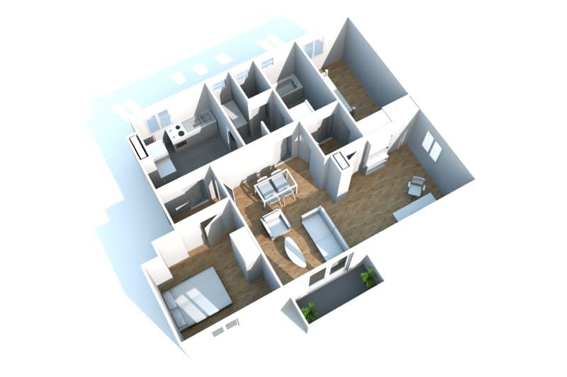 Grand appartement F3 en location à Canteleu - Image 7