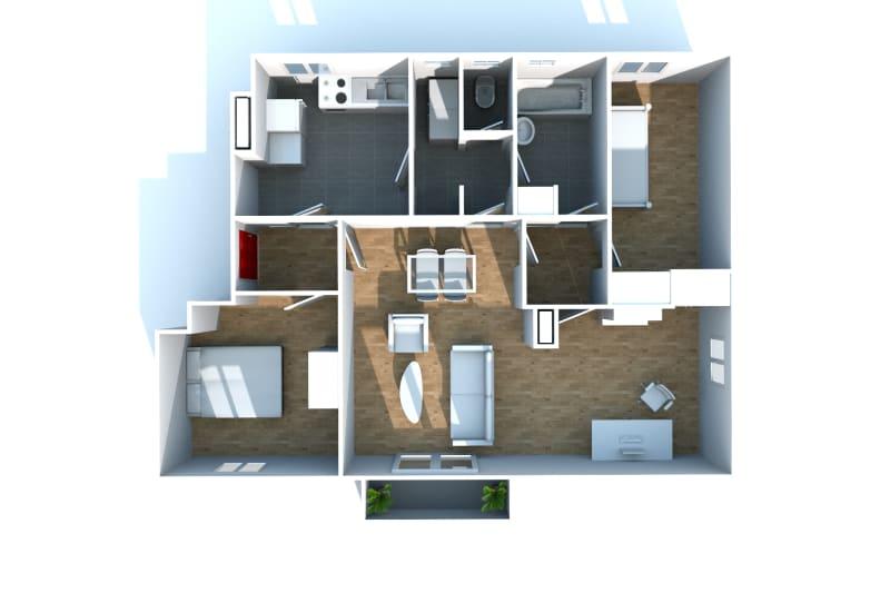 Grand appartement F3 en location à Canteleu - Image 8